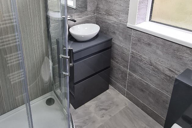 Bathroom to shower room conversion